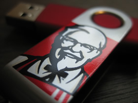 Color imprinting for USB drives